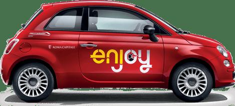 Auto Enjoy a Roma e Milano, il car sharing di ENI
