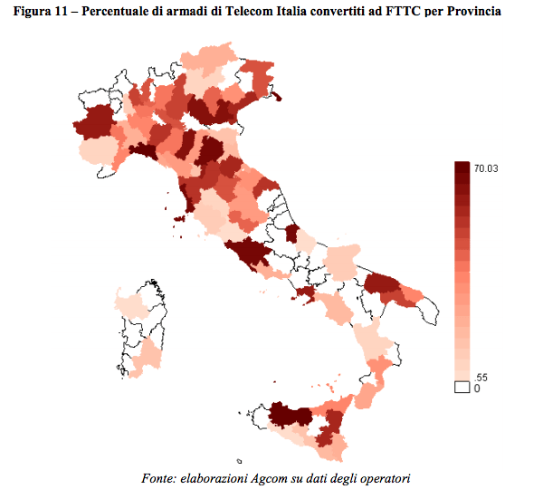 La copertura di reti supeveloci in Italia è tra le ultime in Europa