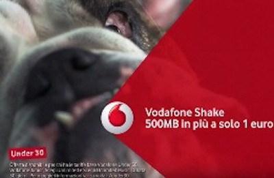 Vodafone Shake: 500 MB in più a 1 euro per gli under 30