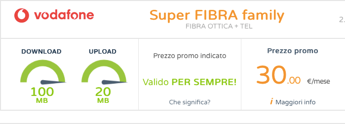 Scopri l'offerta Super ADSL Family Vodafone