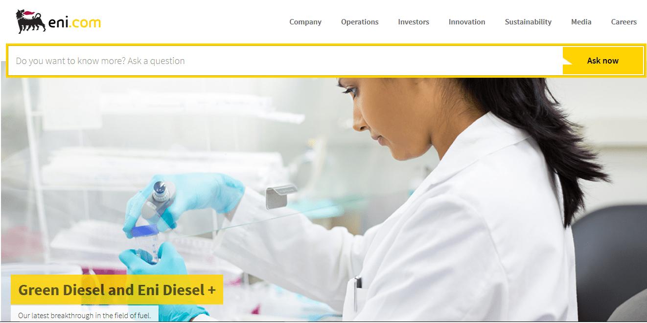 Nuovo sito ENI: scopriamolo insieme