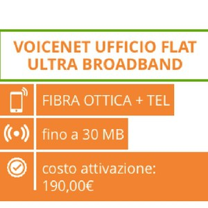 Internet Fibra e telefono Mc-Link: VoiceNet Ufficio Flat Ultra BroadBand