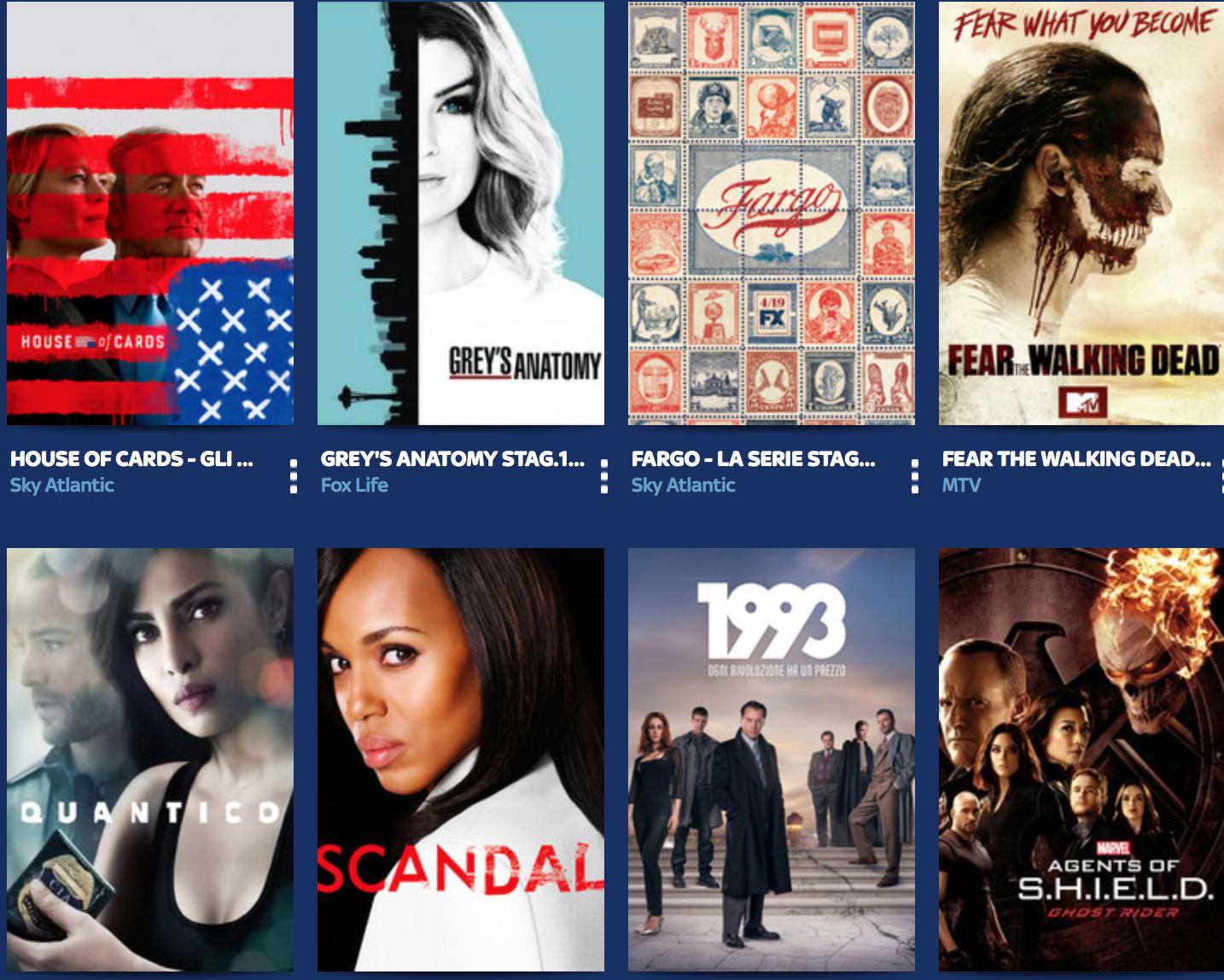 Le 10 serie TV più viste su Sky