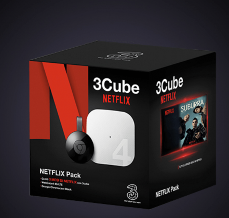 30 GB e navigazione gratis di notte a 10 euro al mese con Tre: 3Cube