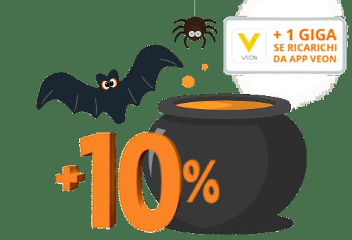 Promozione Halloween Wind 2017: bonus sulle ricariche e GB scontati
