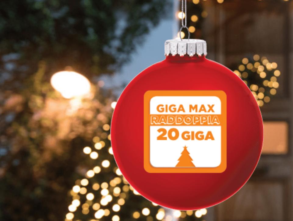 Promozione natalizia Wind: 20 GB a 9 euro per 3 mesi