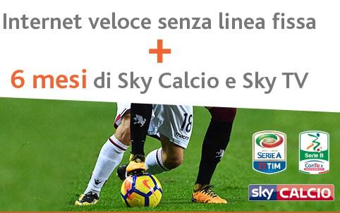 Abbonamento Linkem e 6 mesi gratis di Sky Calcio e TV: i dettagli della promo