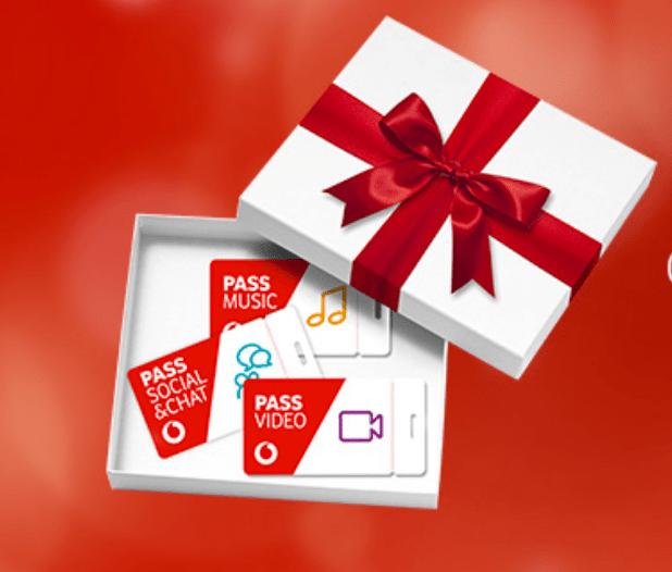 Promozione Natale Vodafone 2017: Vodafone Pass gratis per 1 mese