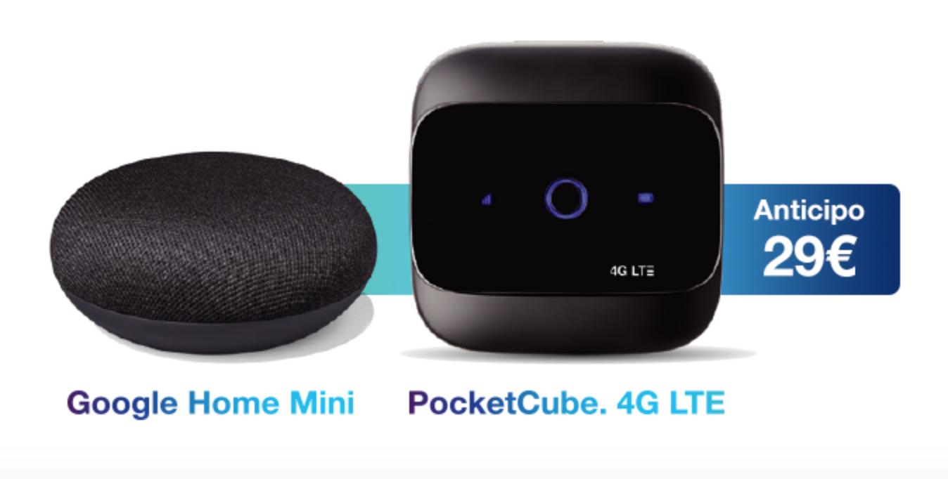 Offerta Internet Tre con Google Home Mini da 10€ al mese: 3Cube Pack