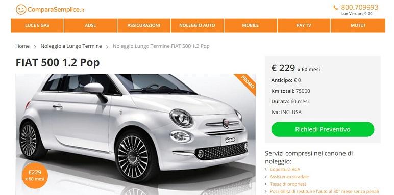 Offerte noleggio lungo termine maggio 2018: prenditi una FIAT!