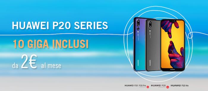 Huawei P20 con Wind: promozione a partire da 2 euro al mese