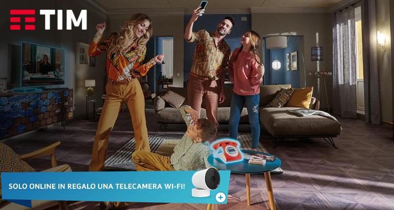 Offerte TIM Connect: camera WiFi in regalo fino al 14 maggio