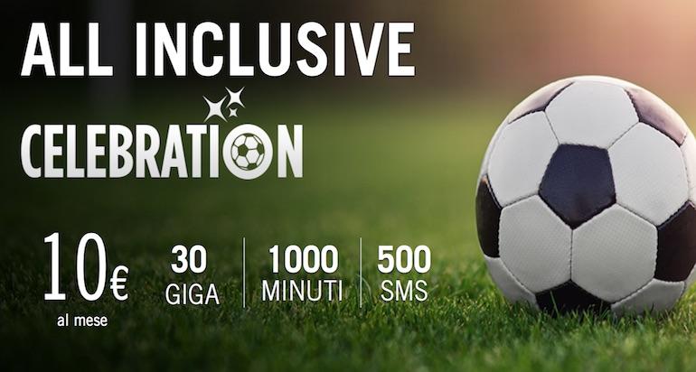 Wind All Inclusive Celebration 30 solo per oggi: voce, sms e dati a 10 euro