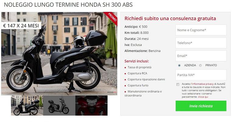 Settembre 2018 – Offerte di noleggio lungo termine moto e scooter