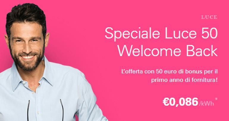 Enel Energia: offerta Speciale Luce 50 con il bonus fino al 25 settembre
