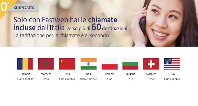 Quali Paesi posso chiamare con Fastweb Mobile