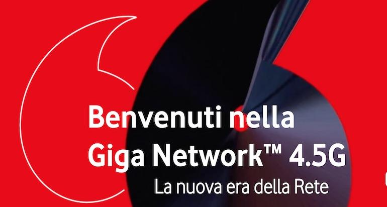 Copertura 4,5G Vodafone: le città raggiunte dalla Giga Network