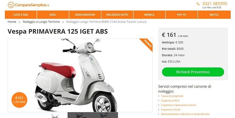 Dicembre 2018: offerte moto e scooter a noleggio a lungo termine