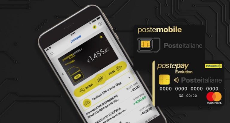Offerta PosteMobile con PostePay e sim tutto incluso: PostePay Connect
