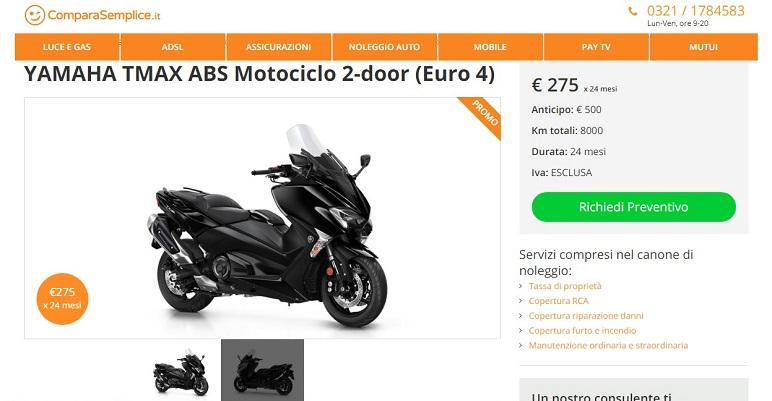 Febbraio 2019: offerte di noleggio lungo termine moto e scooter