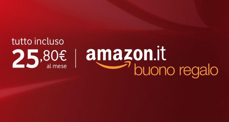 Buono Amazon in regalo con le tariffe Fibra Vodafone fino a domani