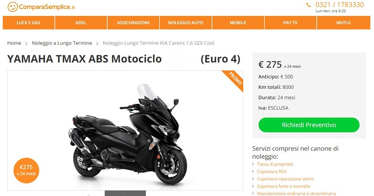 Aprile 2019: moto e scooter. Migliori offerte noleggio lungo termine