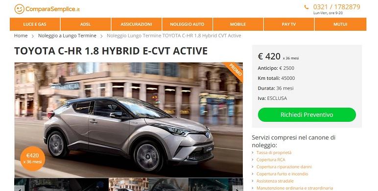 Marzo 2019: migliori offerte auto noleggio a lungo termine