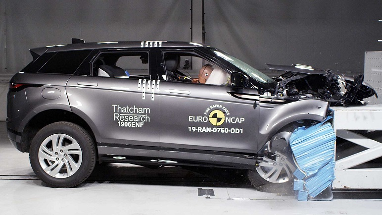 Crash test Euro NCAP: la Range Rover Evoque, vale 5 stelle!