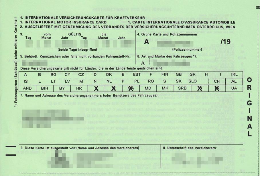 Carta verde: dove è obbligatoria, chi la rilascia, costi