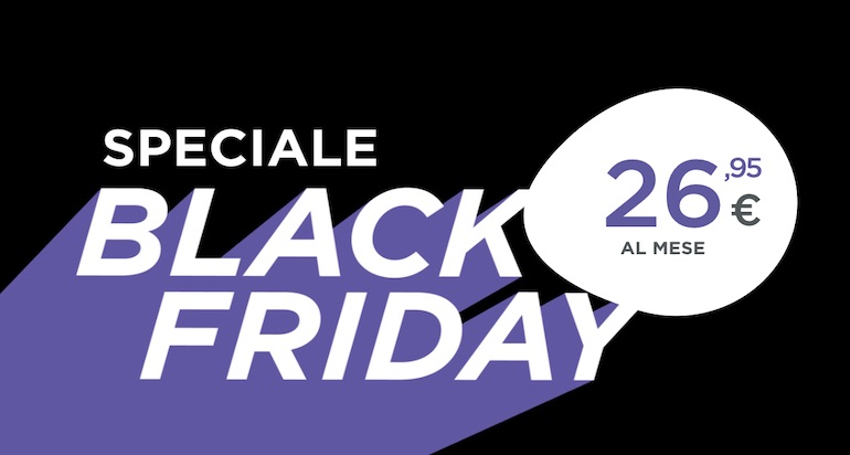 Black Friday Tiscali: chiamate illimitate e 6 mesi di Infinity a 1 euro in più