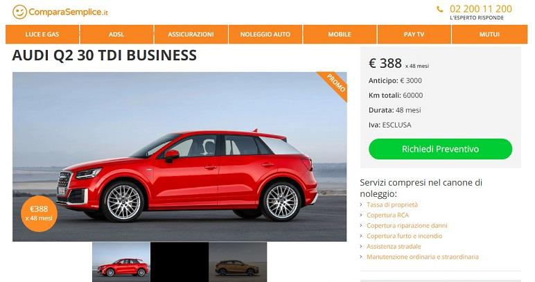 Audi: migliori offerte per il noleggio a lungo termine di novembre 2019