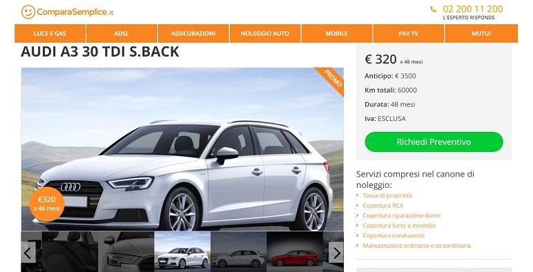 Noleggio lungo termine Audi: offerte di dicembre