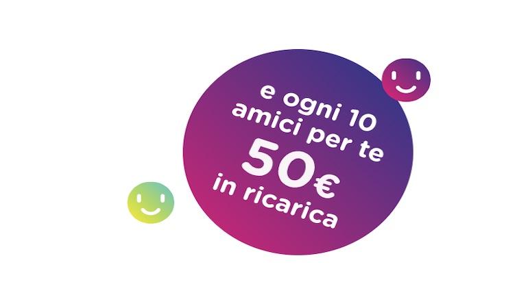 Porta un amico in ho: fino a 150 euro di ricariche gratis