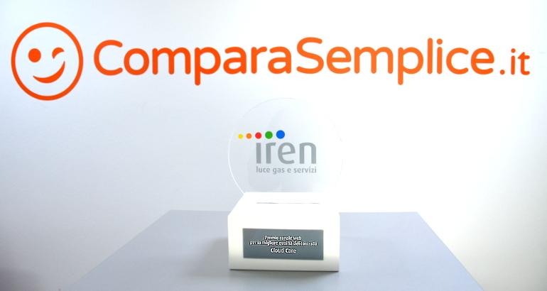 Cloud Care (ComparaSemplice.it): premio Iren per migliore qualità dei contratti