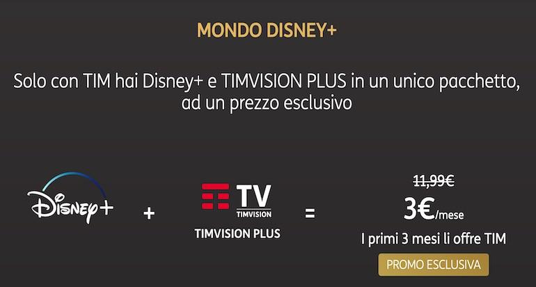 Super TIM a 29,90€ e Disney Plus gratis 3 mesi fino a maggio 2020