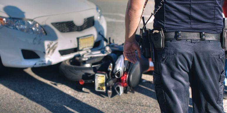 Un'auto o una moto incidentata può circolare?
