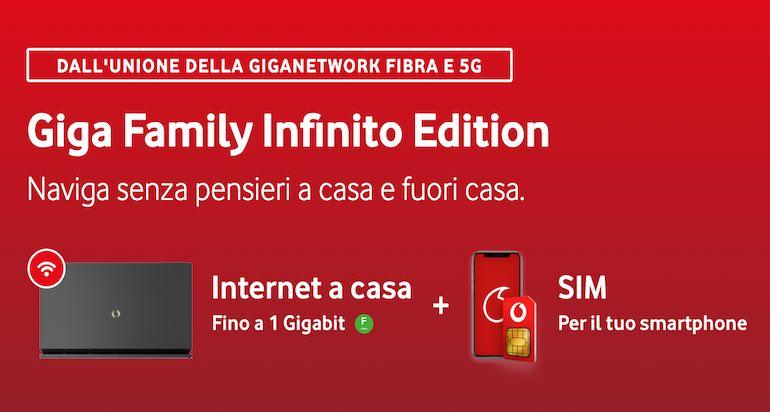 Nuova offerta fisso-mobile Vodafone: ecco la Giga Family Infinito Edition