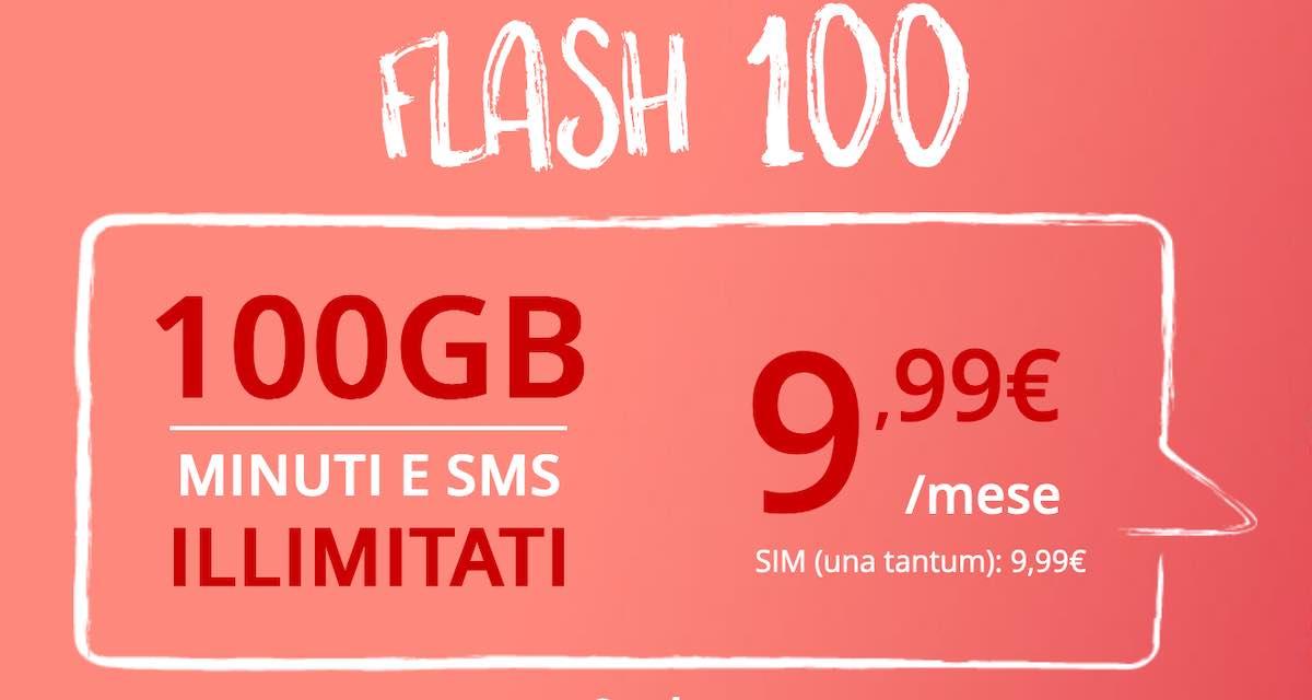 Nuova offerta Iliad con chiamate, sms e 100 GB a 9,99 euro al mese