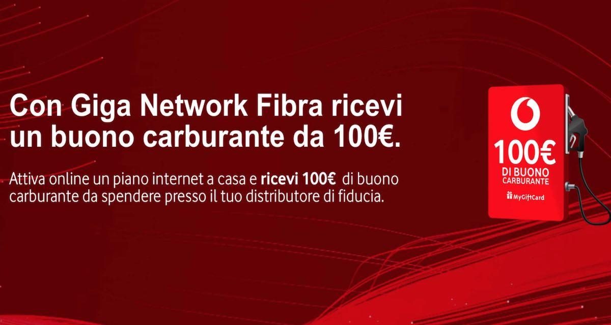 Promo Vodafone Fibra: buono 100 euro carburante in regalo