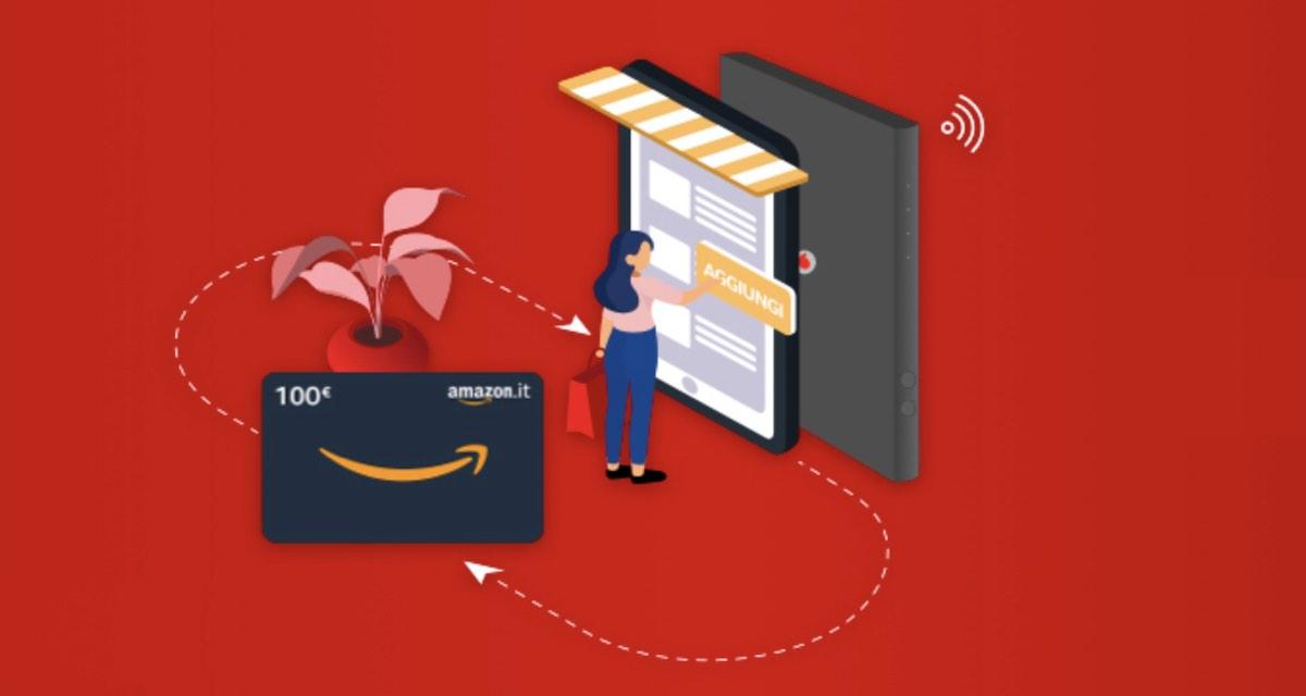 Buono regalo Amazon da 100 euro con le offerte Vodafone casa (fino a domenica)